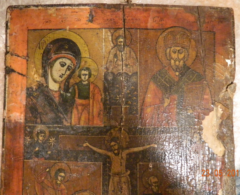 Detaliu- In timpul curatarii stratului pictural